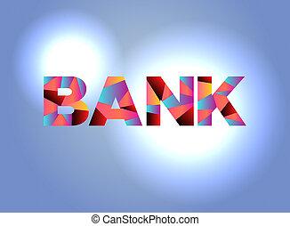 Bank Theme Word Art Illustration