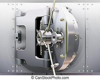 Bank vault - 3D render of bank vault