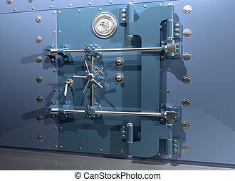 Bank Vault - Illustration of a very secure bank vault