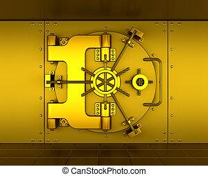 Bank vault - Gold bank vault