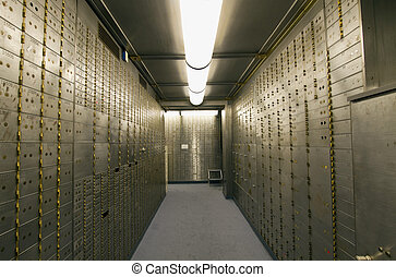 Bank Vault Safe Deposit Box in Historic Building