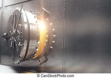 Bank vault side