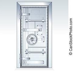 Bank Vault Door scalable vector illustration
