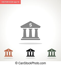 bank vector icon isolated on white background