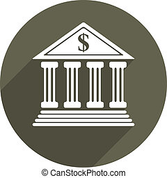 Bank vector icon isolated.