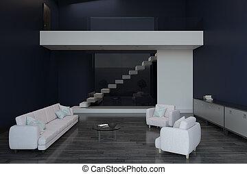 bank white slab in modern room