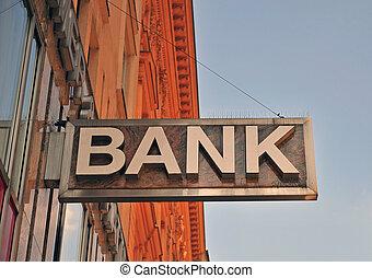 bank, zeichen