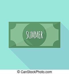 bank, zomer, schaduw, lang, tekst, aantekening