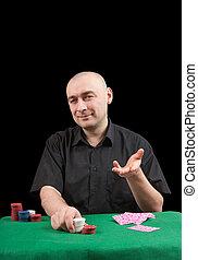 banker poker . Isolated over black