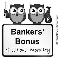 Bankers bonuses - Monochrome banker bonuses with UK currency...