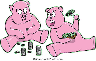 banki, świnka