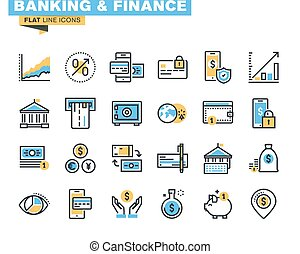 Banking and finance icons