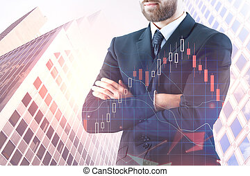 Banking and statistics concept