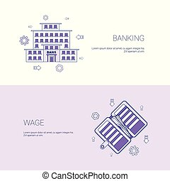 Banking And Wage Finance Business Concept Template Web...