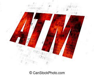 Banking concept: ATM on Digital background