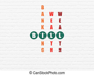 Banking concept: Bill in Crossword Puzzle