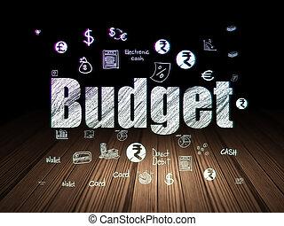 Banking concept: Budget in grunge dark room