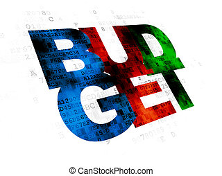 Banking concept: Budget on Digital background