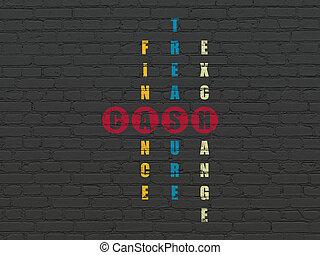 Banking concept: Cash in Crossword Puzzle