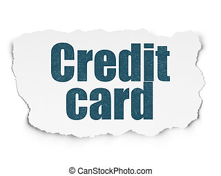 Banking concept: Credit Card on Torn Paper background