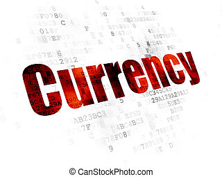 Banking concept: Currency on Digital background