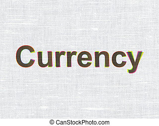 Banking concept: Currency on fabric texture background