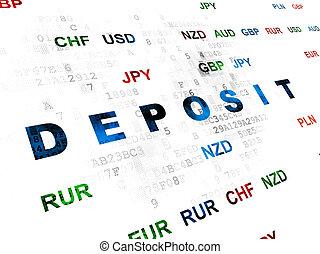 Banking concept: Deposit on Digital background