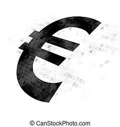 Banking concept: Euro on Digital background