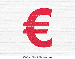 Banking concept: Euro on wall background