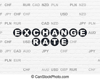 Banking concept: Exchange Rate on wall background