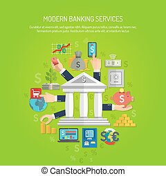 Banking Concept Flat