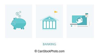 banking concept flat design