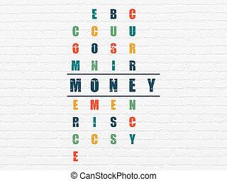 Banking concept: Money in Crossword Puzzle