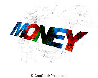 Banking concept: Money on Digital background