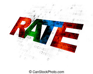 Banking concept: Rate on Digital background