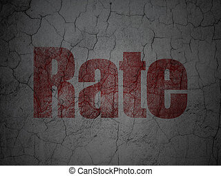 Banking concept: Rate on grunge wall background