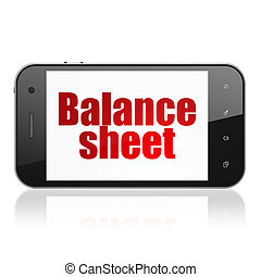 Banking concept: Smartphone with Balance Sheet on display