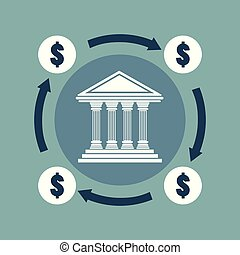 Banking concept. Vector illustration in flat design