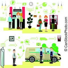 Banking concept vector illustration in flat style - Vector...