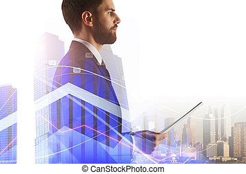 banking concept with businessman