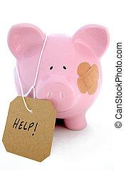 Banking crisis - Injured piggy bank seeks bail out