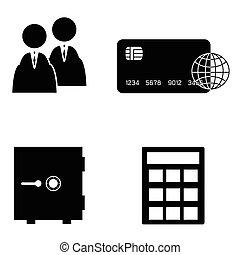banking icon set