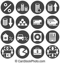 Banking icon set on white background