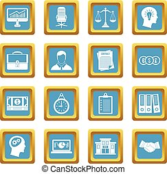 Banking icons azure