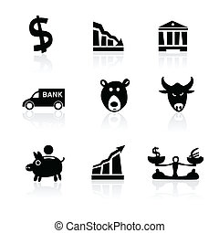 Banking icons hand drawn part 1