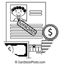 Banking lending icon