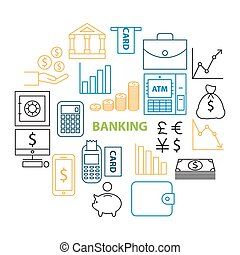 banking line icon