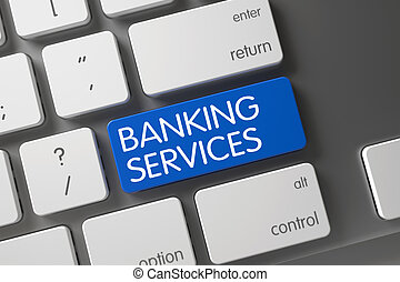 Banking Services Key. 3D. - Banking Services Concept Modern ...