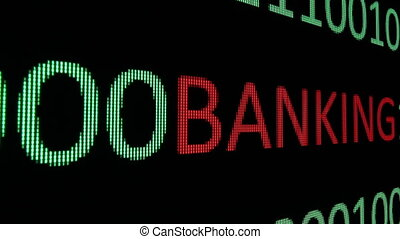 Banking text over binary data