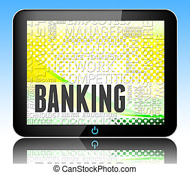 Banking Word Shows Online Bank 3d Illustration